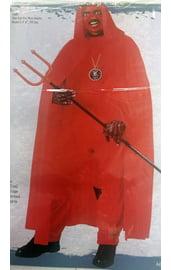 Красный плащ с капюшоном 173 см
