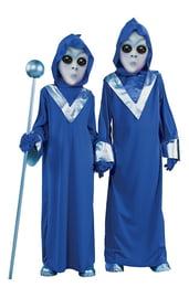 Детский костюм пришельца синий