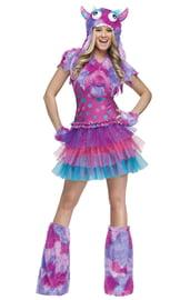 Разноцветный костюм монстрика в горошек