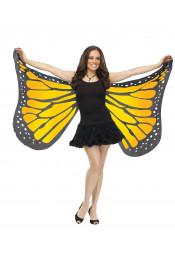 Мягкие крылья бабочки желтые