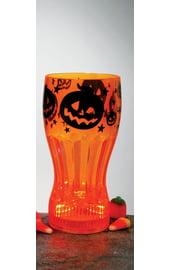 Светящийся оранжевый стакан для Колы