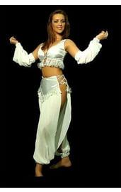 Костюм восточной танцовщицы белый