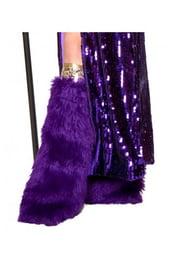 Фиолетовые меховые гетры сутенерши