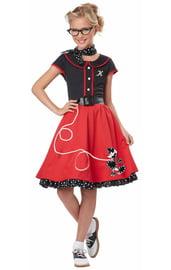 Костюм модницы 50-х годов детский