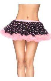 Воздушная юбка в горошек