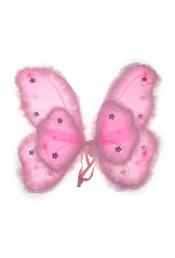 Крылья мотылька розовые