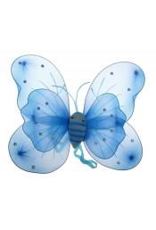 Голубые крылья бабочки с цветочками