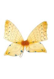 Крылья бабочки оранжевые со стразами