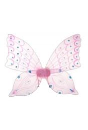 Крылья бабочки розовые со стразами