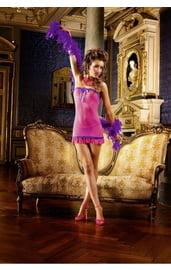 Ярко-розовая сорочка без бретелек