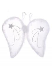 Белые крылья ангела со звездами