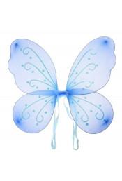Голубые крылья бабочки с рисунком