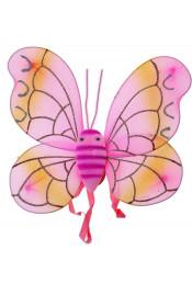 Крылья бабочки розовые с усиками