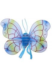 Крылья бабочки голубые с усиками