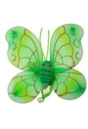 Крылья бабочки зеленые с усиками