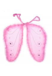 Крылья бабочки со стразами розовые