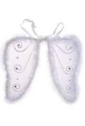 Крылья бабочки со стразами белые