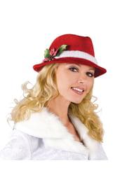 Рождественская стильная шляпа