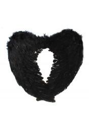 Крылья ангела черные 60 см