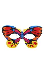 Маска бабочки с разноцветными крыльями