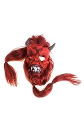 Маска дьявола с рыжими волосами