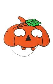 Маска тыквы оранжевая