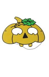 Маска тыквы желтая