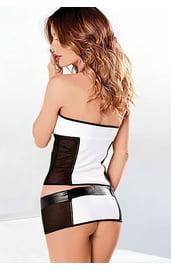 Черно-белый костюм секси стюардессы
