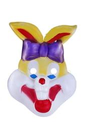 Маска зайчика-ушастика с бантом