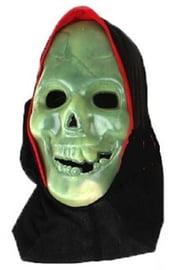 Маска черепа с черной накидкой
