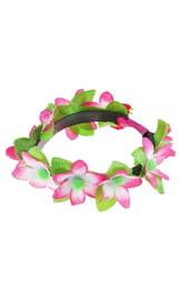 Ободок гавайский с цветами
