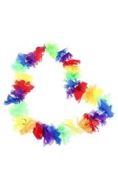 Гавайское ожерелье с пушистыми цветами