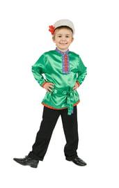 Косоворотка для детей зеленая