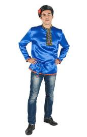 Косоворотка для взрослых синяя