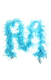 Боа карнавальное голубое