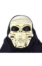 Золотистая маска улыбающегося черепа