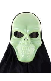 Светоотражающая маска улыбающегося черепа