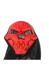 Красная маска черепа в накидке