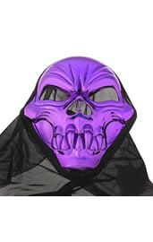Фиолетовая маска черепа в накидке