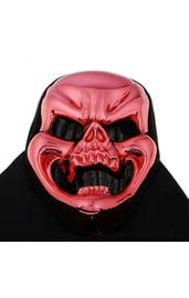 Маска черепа красная с улыбкой