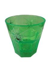 Зеленый стакан с пауками