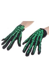 Светоотражающие перчатки скелета