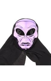 Маска пришельца фиолетовая с накидкой