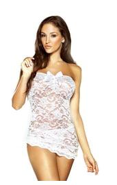 Белое кружевное платье-сорочка