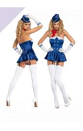 Костюм стюардессы Stewardess corset