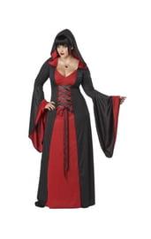 Костюм черно-красной ведьмы