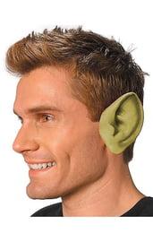 Заостренные уши зеленого цвета