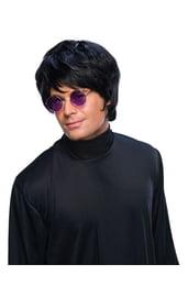 Черный мужской парик в стиле Битлз
