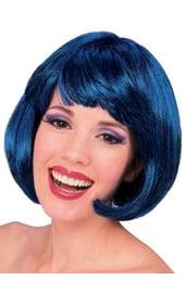 Синий парик супер-модели