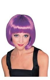 Пурпурный парик супер-модели